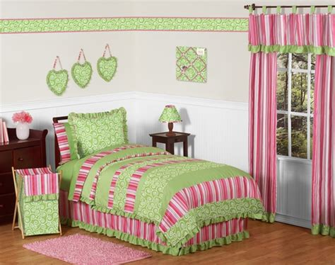 pink and green queen comforter sets olivia pink and green girls children teen bedding 3pc