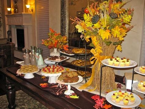 fall themed table decorations pretty fall dessert table autumn themed baby shower