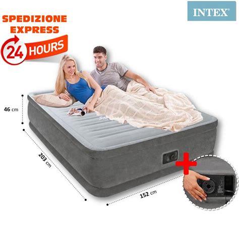 materasso gonfiabile intex prezzo materasso matrimoniale gonfiabile con pompa elettrica