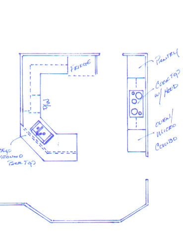 peninsula kitchen layout house experience