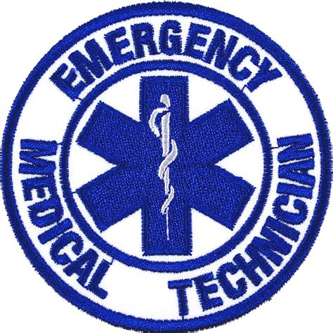 Basic Patch emt embroidered patch embroidery emergency technician 75x75mm
