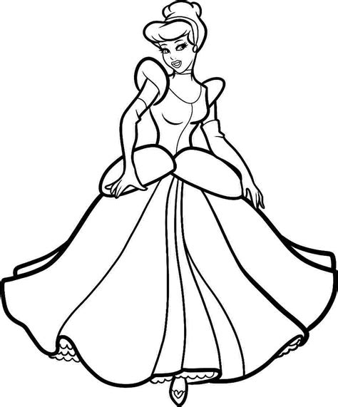 Cinderella Coloring Pages Free Bestofcoloring Com Princess Pictures To Print
