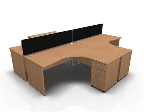 extra large corner desks avalon 1600mm x 1600mm 4 way corner desk high pedestal cluster panel sides