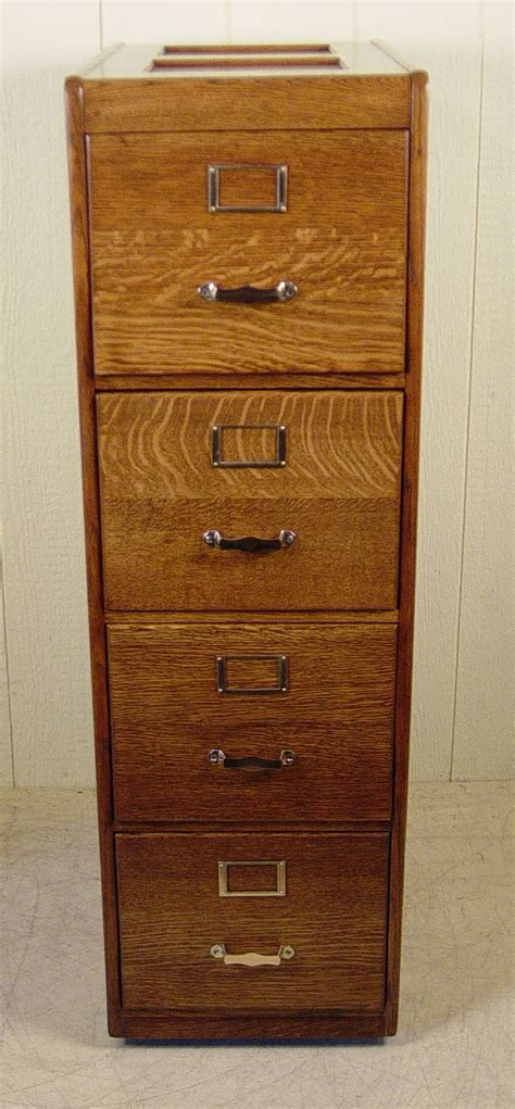 4 drawer letter size oak file cabinet