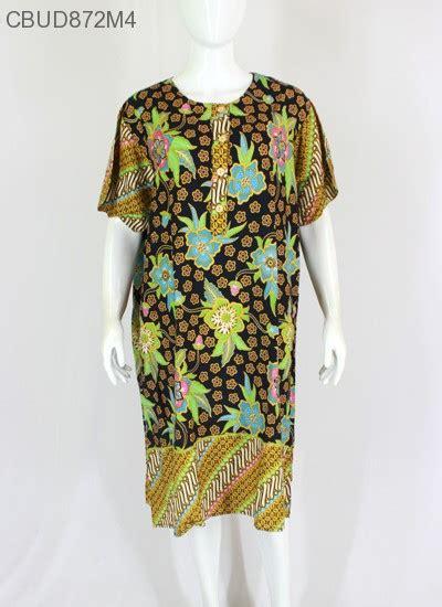 Tunik Bigsize Motif Bunga batik 5l baju batik gamis batik batik murah model batik batikunik