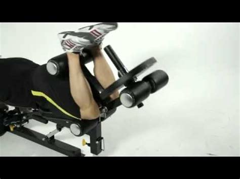 legs up bench press legs abs workout on the powertec workbench utility bench