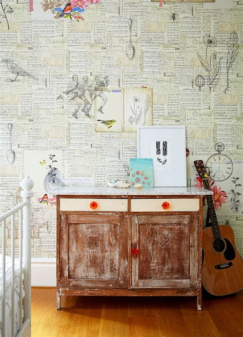 Decoupage Using Wallpaper - craft your style decoupage and decorate with custom wallpaper