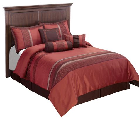 indiologie down alternative comforter set red california