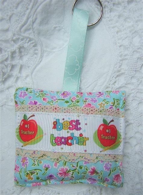 Handmade Fabric Gifts - thank you key ring bag charm best gift