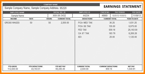 paycheck stub template in microsoft word 6 paycheck stub template in microsoft word pay stub format