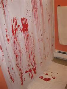 bloody shower curtain and bath mat what you make it day 25 of 31 day spooktacular bloody
