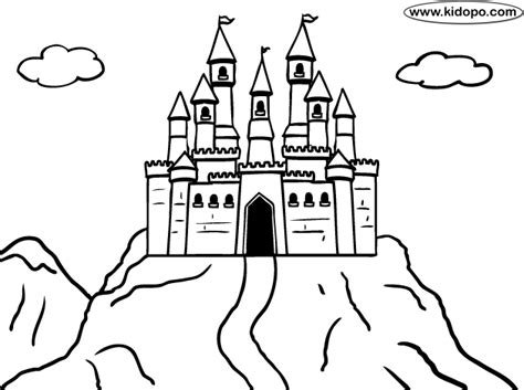 free coloring pages of easy castle draw