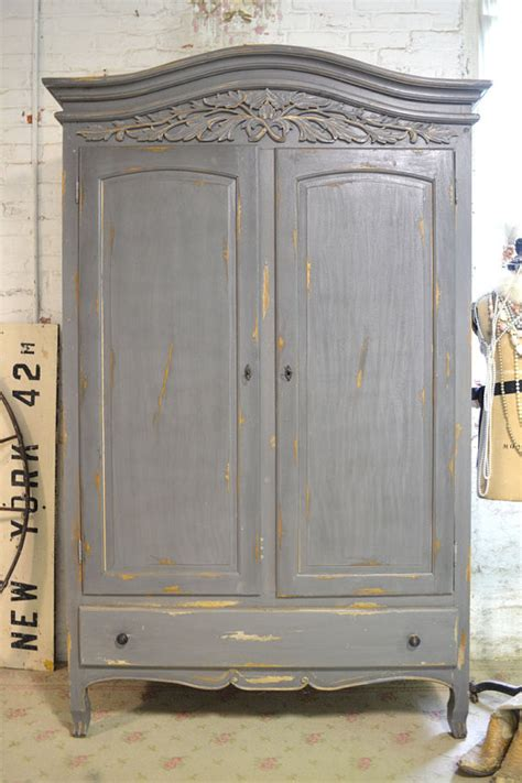 painted tv armoire french armoire painted cottage chic shabby french romantic