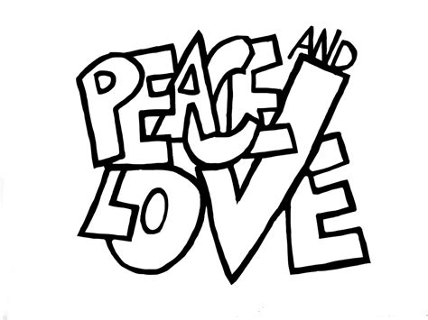imagenes que digan i love you para pintar cartel peace and love dibujalia dibujos para colorear