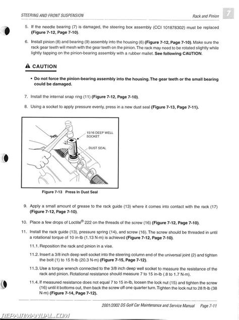 2001 2002 Club Car Ds Golf Car Gas Electric Service Manual