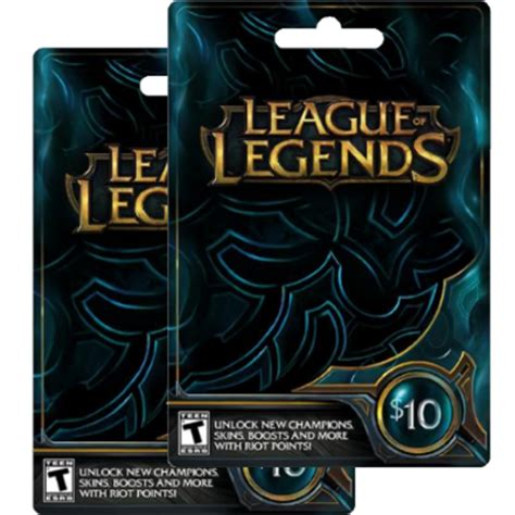 League Gift Cards - league of legends manual redeem league of legends code