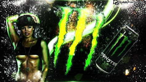 wallpaper girl monster speedart monster energy wallpaper by grimmidesigns