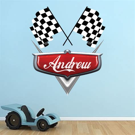 personalized wall stickers personalized boys race car name decal car wall decals