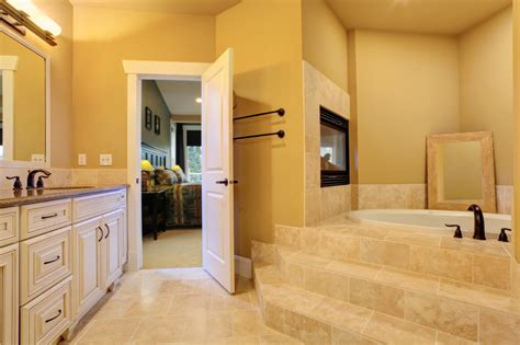 Fireplace In Bedroom And Bathroom 18 Master Bathrooms With Fireplaces Graphic World Co 174