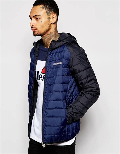 Ellesse Padded Jacket ellesse padded jacket with in blue for lyst