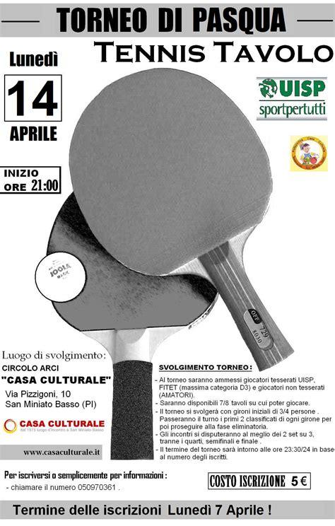 uisp tennis tavolo uisp pisa tennis tavolo torneo di pasqua luned 236 14 aprile