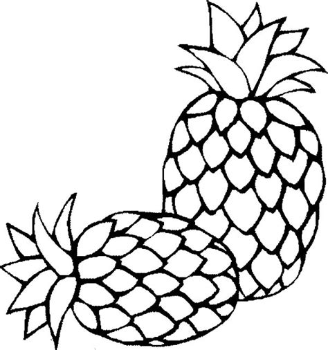 pineapple coloring page pineapple coloring pages 6 coloringpagehub