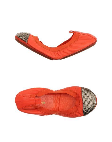 orange shoes flats lyst yosi samra ballet flats in orange