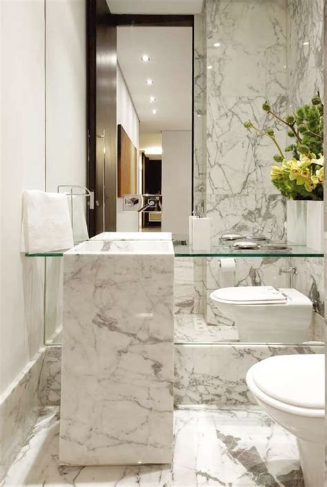 Lavabos Decorados Veja Dicas E Mais De 50 Modelos Carrara Marble Bathroom Accessories