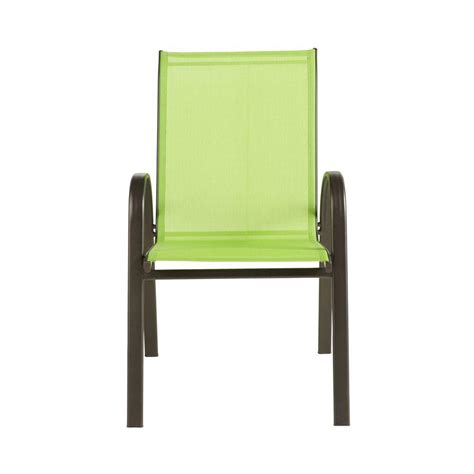 Sling Stackable Patio Chairs Home Decorators Collection Green Sling Stackable Patio Chair 2 Pack Discontinued 0876400610