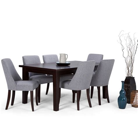 brown dining set simpli home walden 7 java brown dining set axcds7wa
