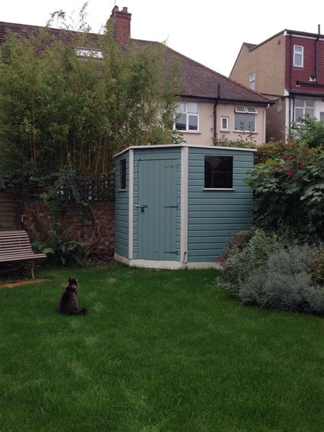 Homebase Shed Paint by Ours Shed Cuprinol Garden Shades In Seagrass And Pale