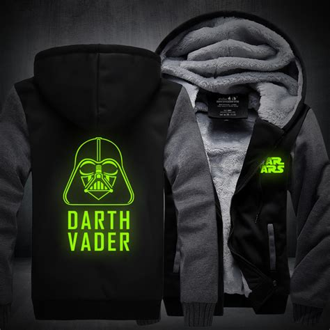 Hoodie Zipper Wars Darth Vader Zemba Clothing new jedi winter jackets and coats wars hoodie darth vader hooded thick zipper
