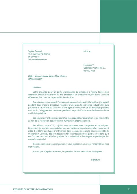 Exemple De Lettre De Motivation Boite D Interim Exemples De Lettres De Motivation