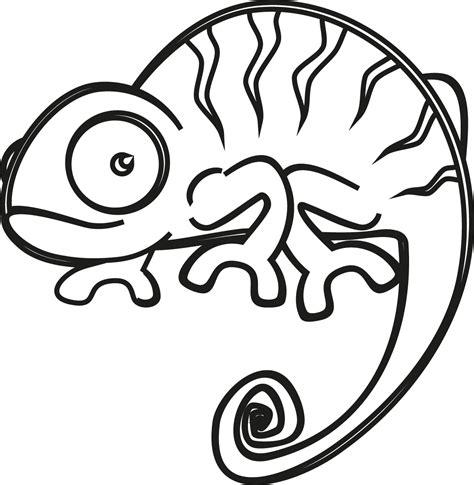 imagenes para pintar iguana camaleon dibujo imagui