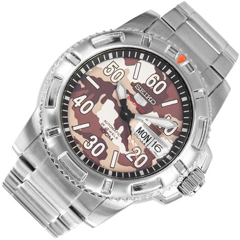 Seiko 5 Sports Srp221 2 seiko 5 sports brown camouflage mens srp221j1 srp221j srp221