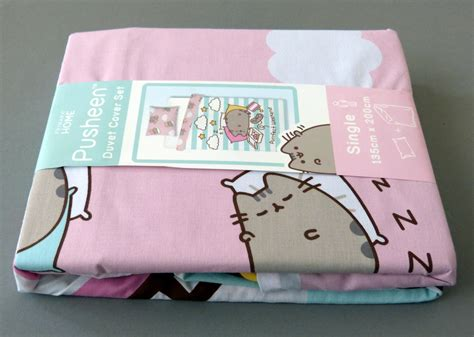 decke primark neu pusheen the cat wende bettw 196 sche set katze kissen