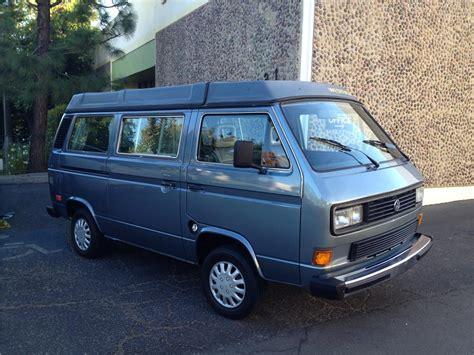 volkswagen vanagon blue 1987 volkswagen vanagon camper 180919