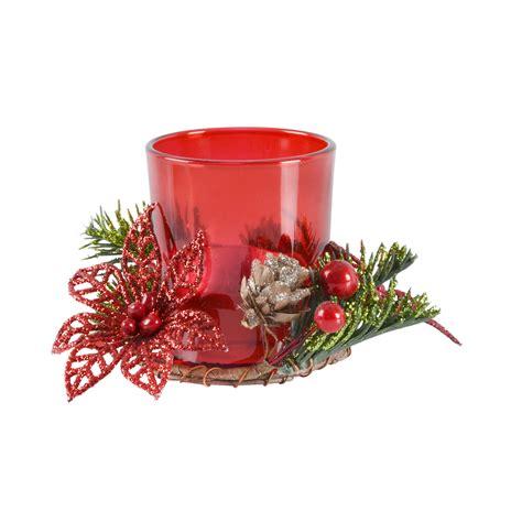 village candle votive holder gift set festive christmas