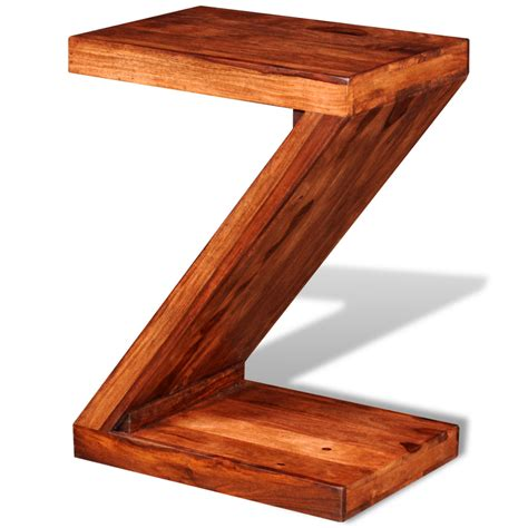 Z Shaped Side Table Vidaxl Co Uk Sheesham Solid Wood Z Shaped Side Table