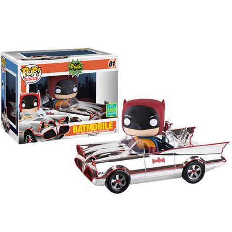 Batman Batmobile Chrome Funko Batman 1966 Batmobile Chrome Pop Rides 2016 Sdcc
