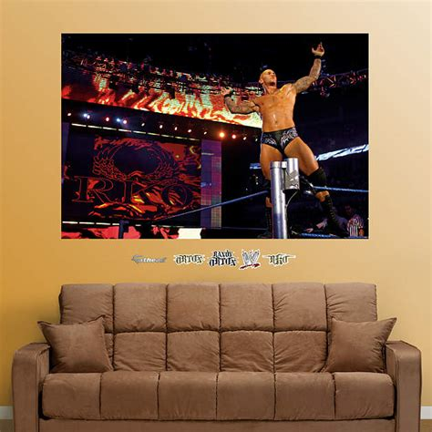 wwe couch randy orton mural wall decal shop fathead 174 for wwe decor