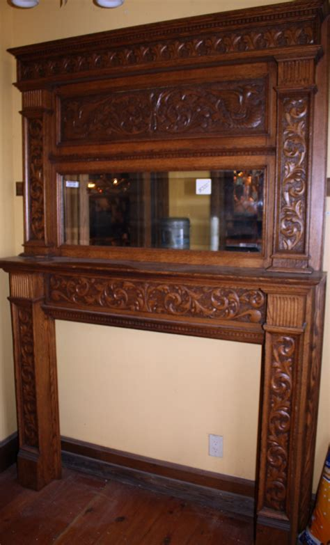 Vintage Fireplace Mantel by Antique Oak Fireplace Mantel Antique Fireplace Mantels Fireplaces Fireplace