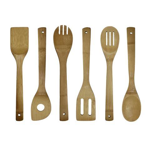 cool utensils oceanstar bamboo cooking utensil set 6 piece amazon ca