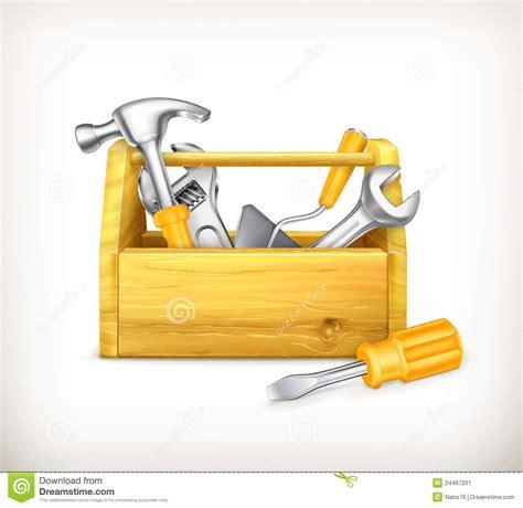 Floor Plan Tool wooden toolbox stock image image 24467201