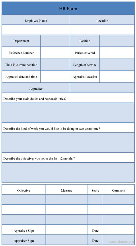Hr Forms And Templates by Hr Evaluation Form Sle Hr Evaluation Form Sle