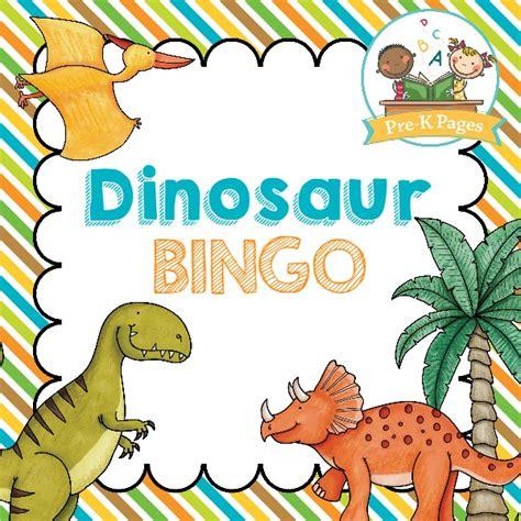 printable dinosaur games dinosaur bingo pre k pages