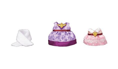 Sylvanian Dressing Up Set New 1 sylvanian families dress up set purple pink toys character george