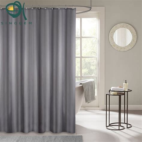 solid color shower curtains sinogem shower curtains solid color polyester waterproof