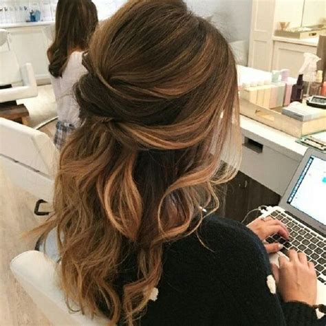 curly partial up how partial updo wavy wedding hairstyle partial updo bridal