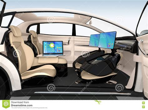 autonomous car interior design concept for new business
